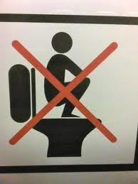 DO NOT squat on Western Toilets- common mistake in Indonesia