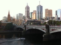 The Yarra River with Federation Square in the background