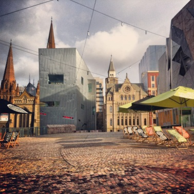 Federation Square post New Years